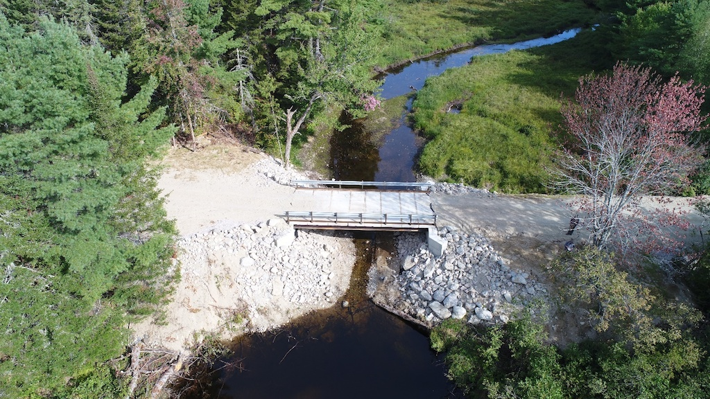 New bridge fully installed. Photo date: September 10, 2018.